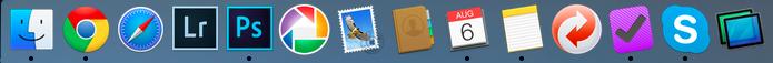Programmerne i Dock'en på min Mac